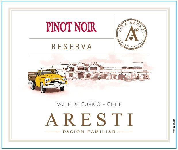 Aresti Reserva Pinot Noir 2016  Front Label