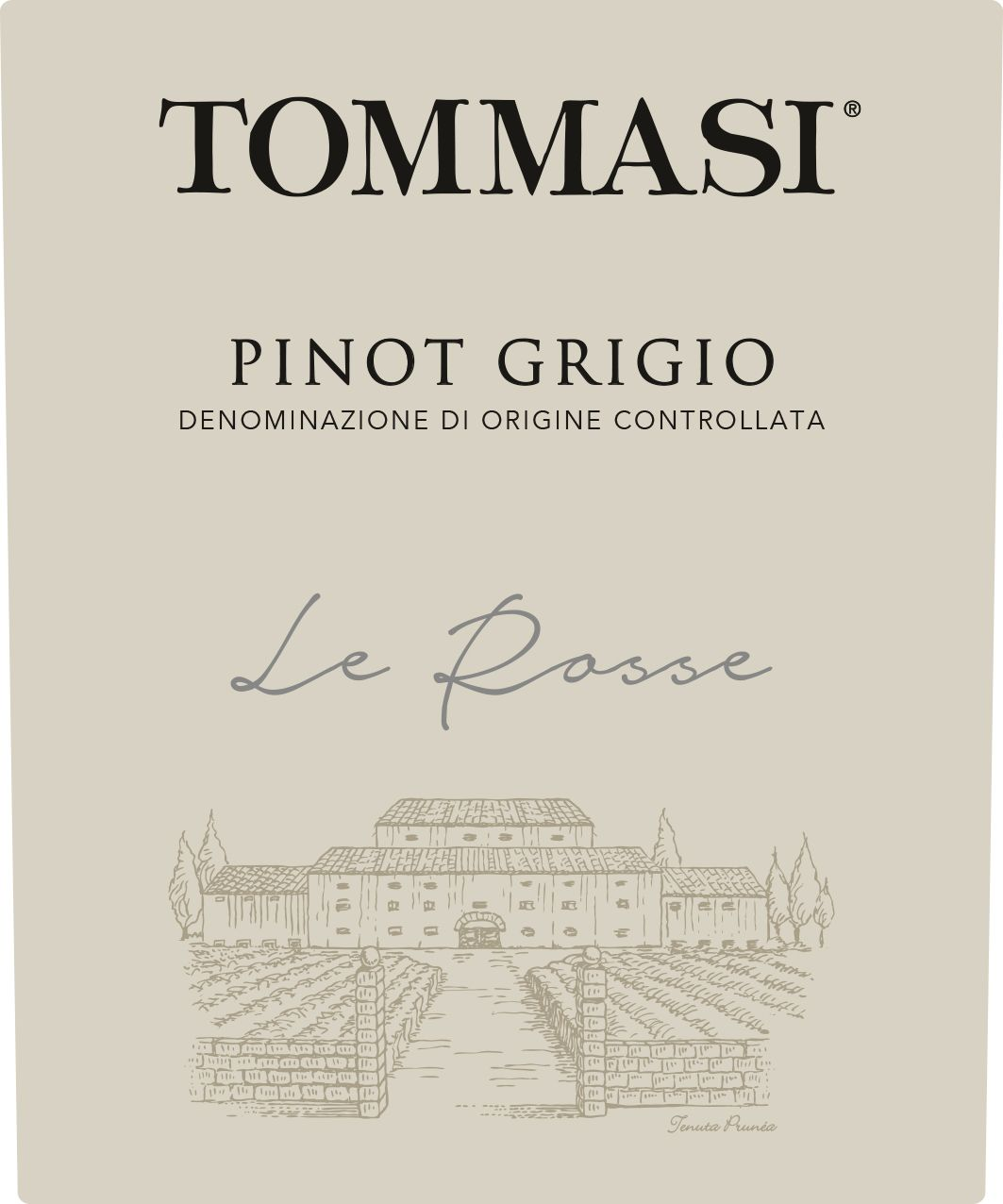 Tommasi Le Rosse Pinot Grigio 2018  Front Label