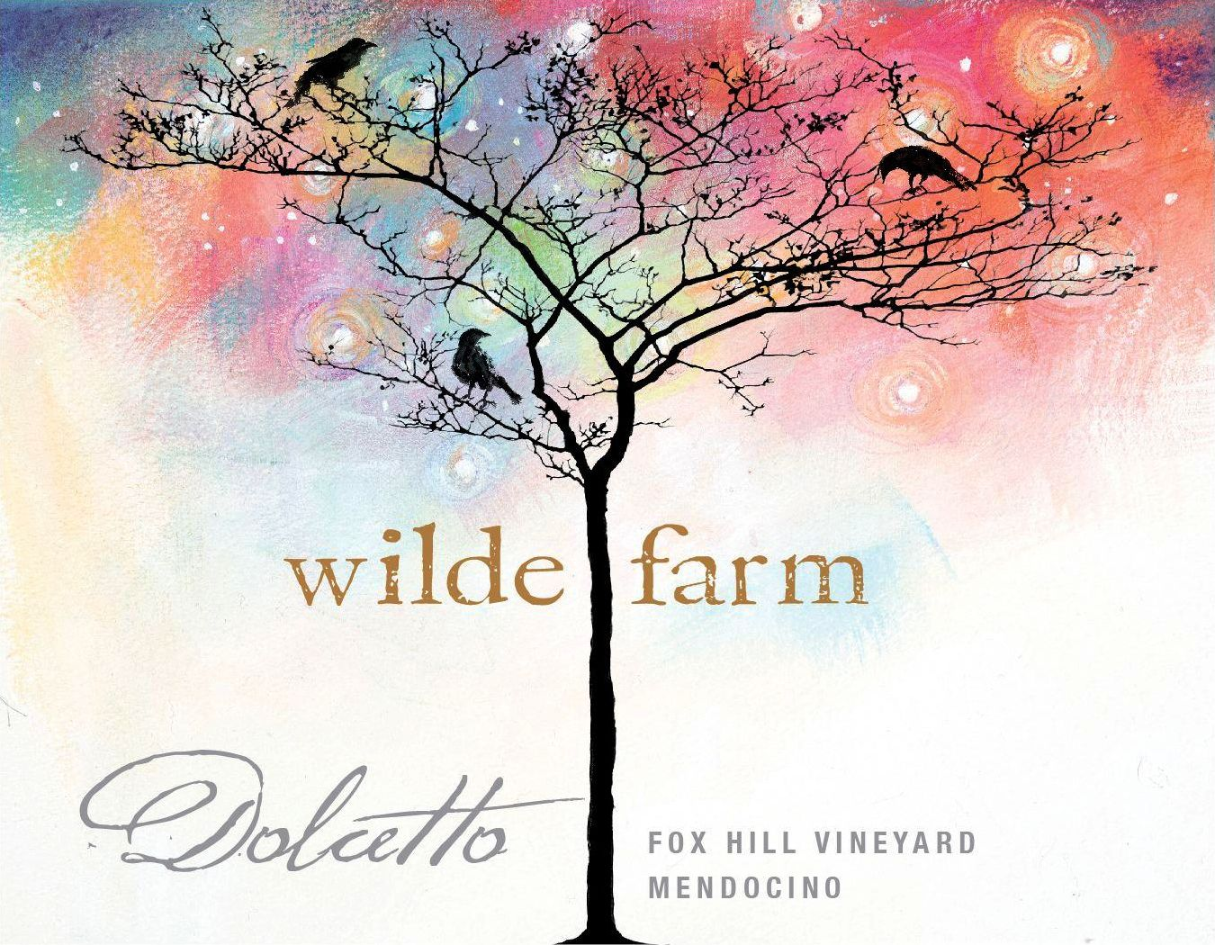 Wilde Farm Fox Hill Vineyard Dolcetto 2018  Front Label