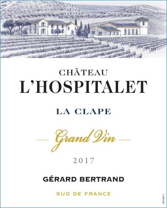 Gerard Bertrand Chateau L'Hospitalet Grand Vin Rouge 2017  Front Label