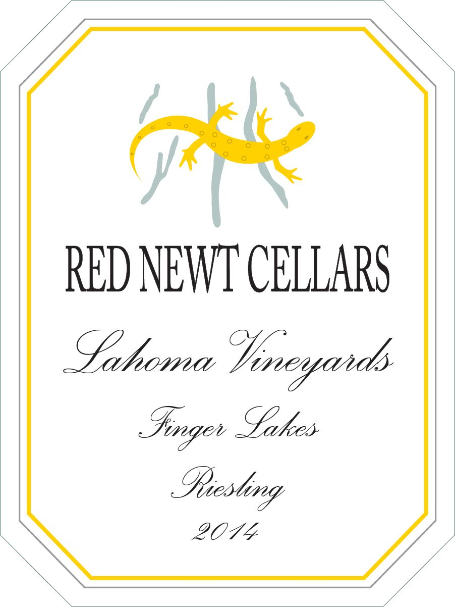 Red Newt Cellars Lahoma Vineyards Riesling 2014  Front Label