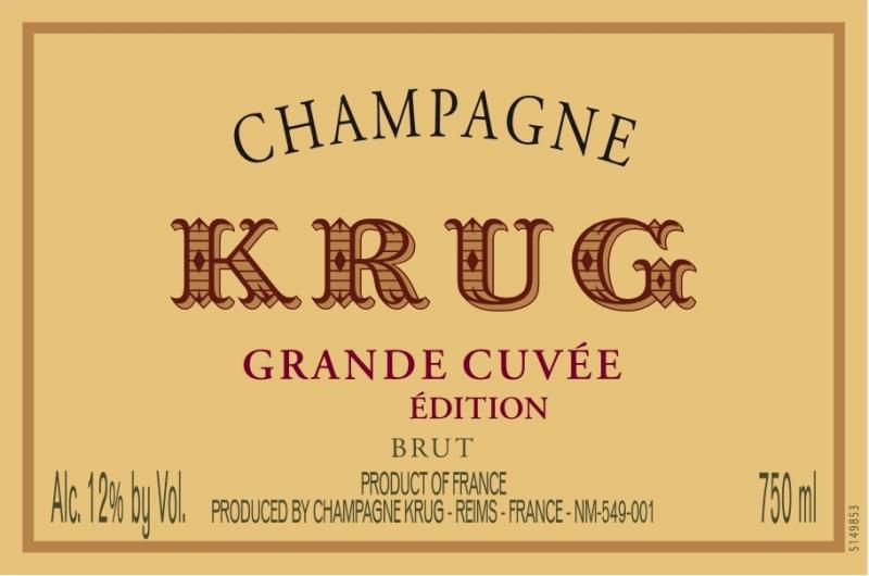 Krug Grande Cuvee Brut (168th Edition) with Gift Box  Front Label