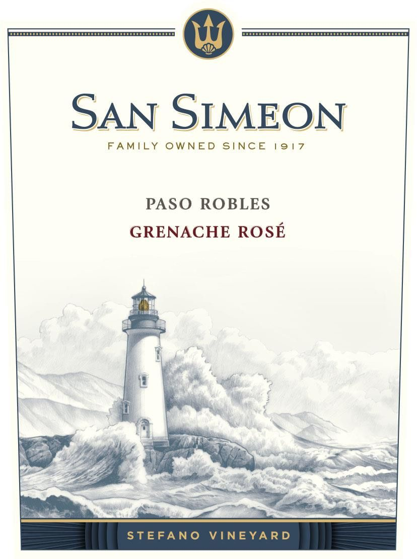 San Simeon Stefano Vineyard Rose of Grenache 2018 Front Label