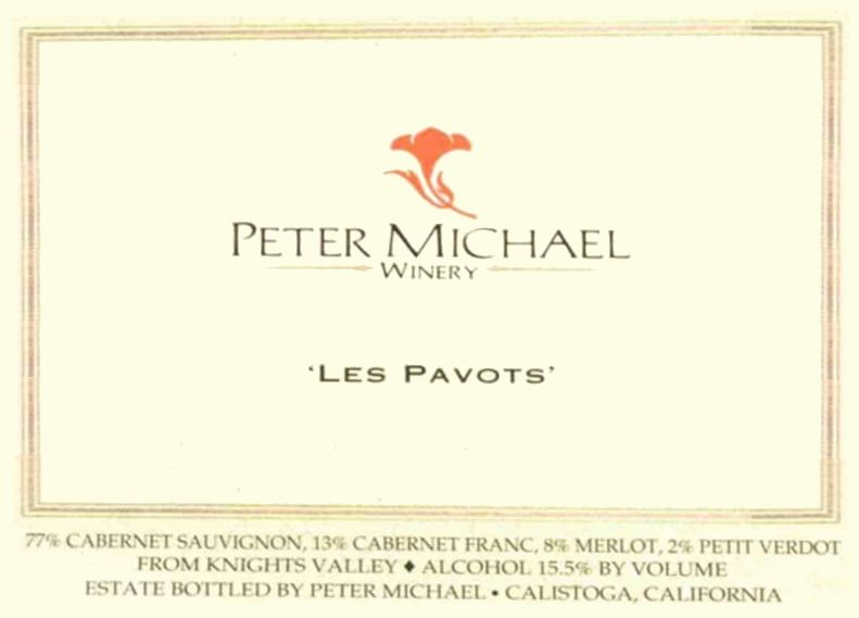 Peter Michael Les Pavots 2007  Front Label