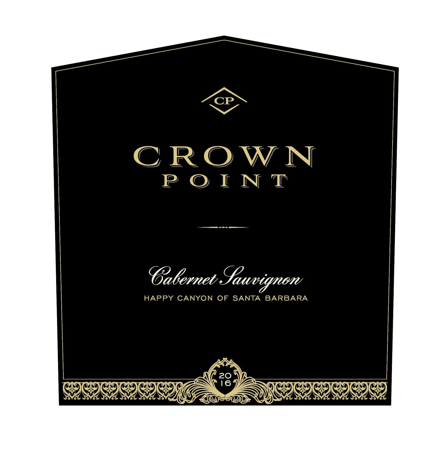Crown Point Cabernet Sauvignon 2016  Front Label