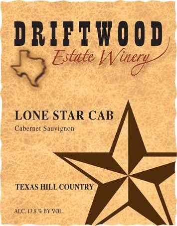 Driftwood Estate Winery Texas Hill Country Lone Star Cab 2014 Front Label
