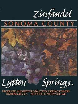 Lytton Springs Winery Zinfandel (1.5 Liter Magnum) 1993  Front Label