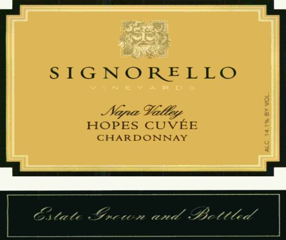 Signorello Hope's Cuvee Chardonnay 2017  Front Label