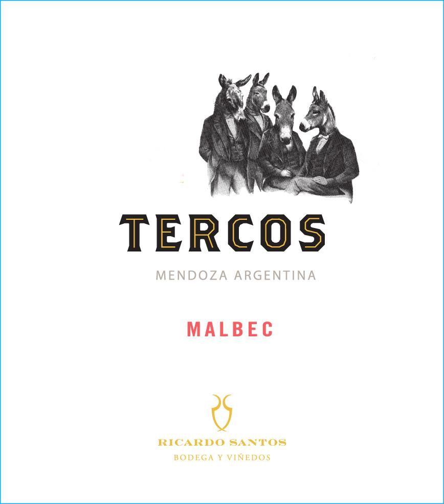 Tercos Malbec 2017 Front Label