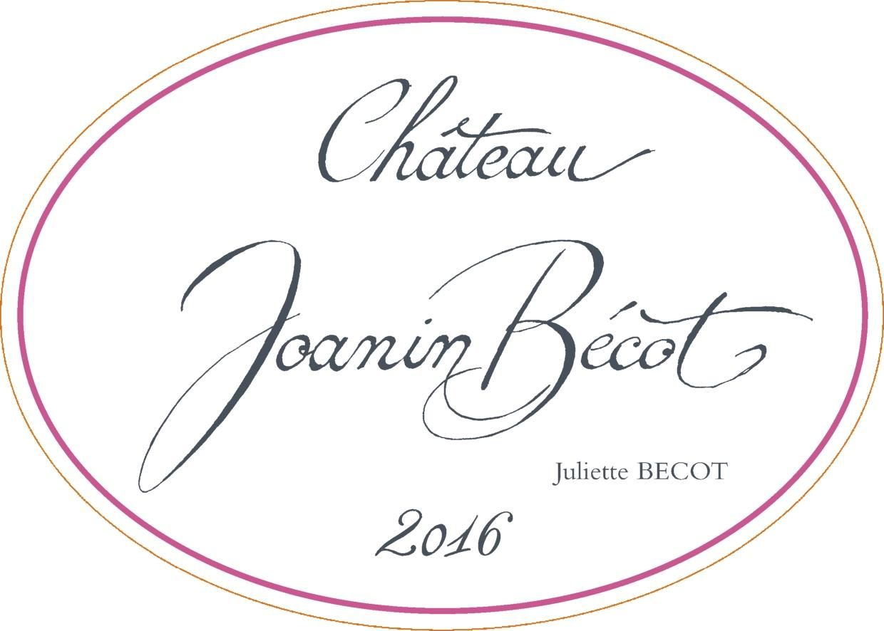 Chateau Joanin Becot  2016  Front Label