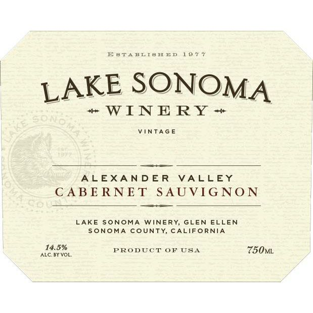Lake Sonoma Winery Alexander Valley Cabernet Sauvignon 2017  Front Label