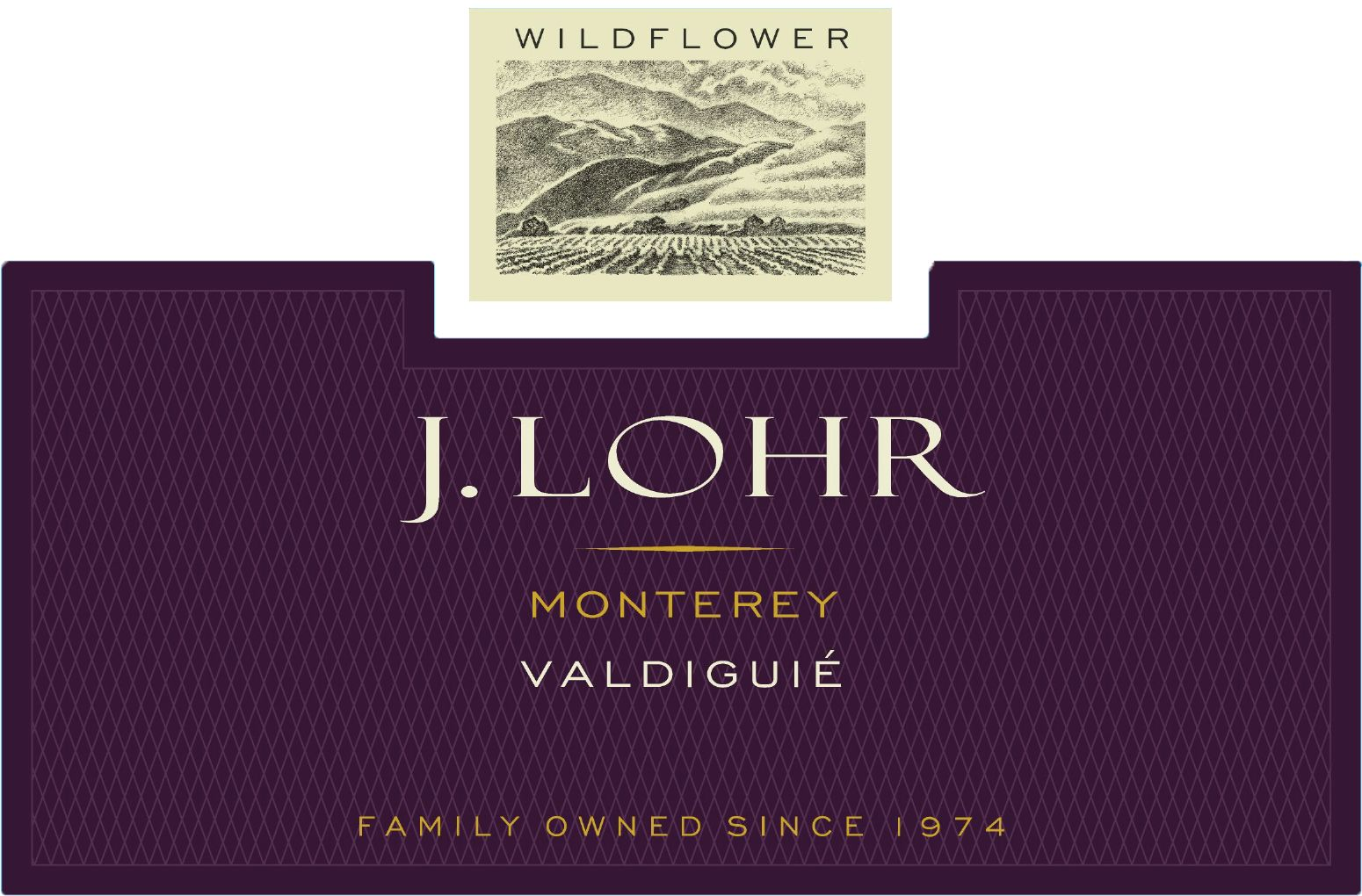J. Lohr Wildflower Valdiguie 2018  Front Label