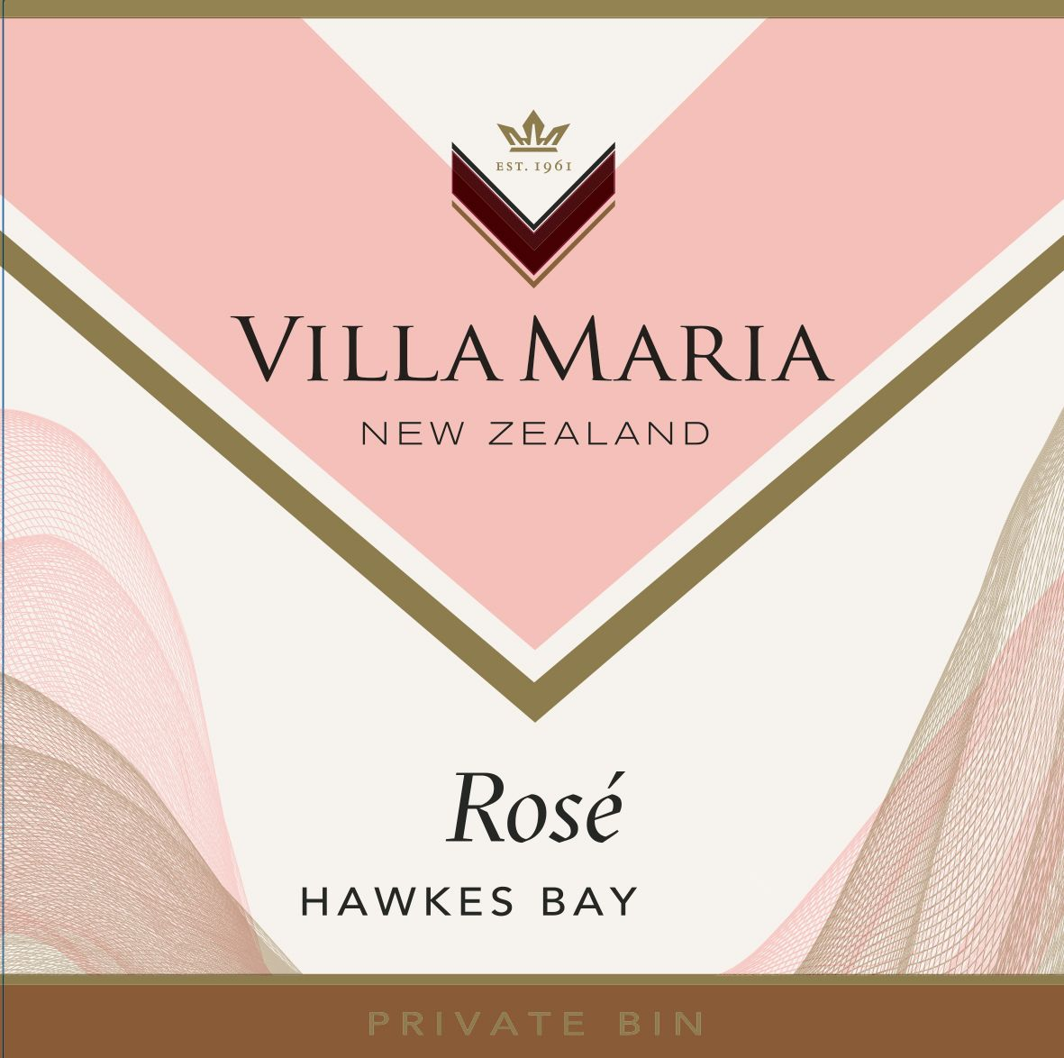 Villa Maria Private Bin Rose 2020  Front Label