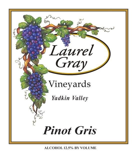 Laurel Gray Vineyards Pinot Gris 2015  Front Label