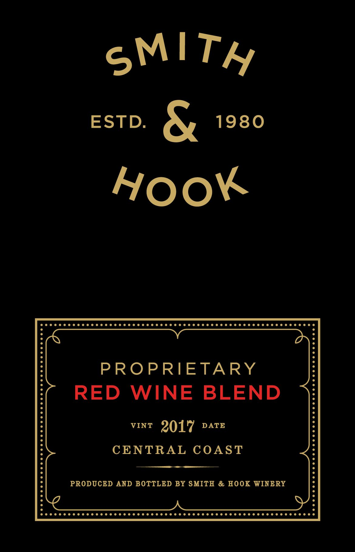 Smith & Hook Proprietary Red Blend 2017  Front Label