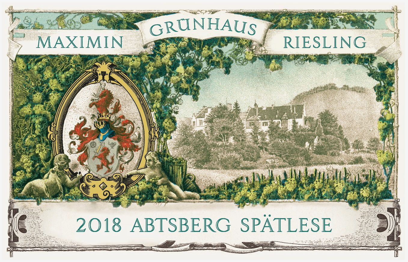 Maximin Grunhauser Abtsberg Riesling Spatlese 2018  Front Label