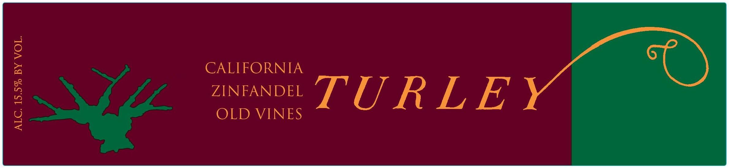 Turley Old Vines Zinfandel 2017  Front Label