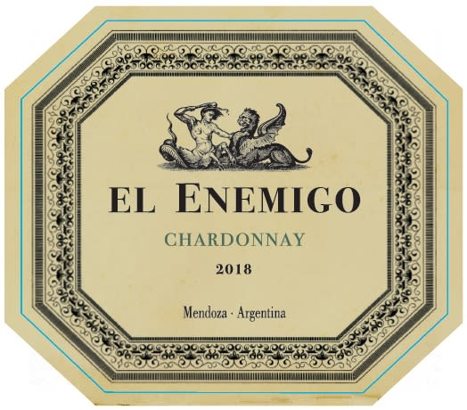 El Enemigo  Chardonnay 2018  Front Label