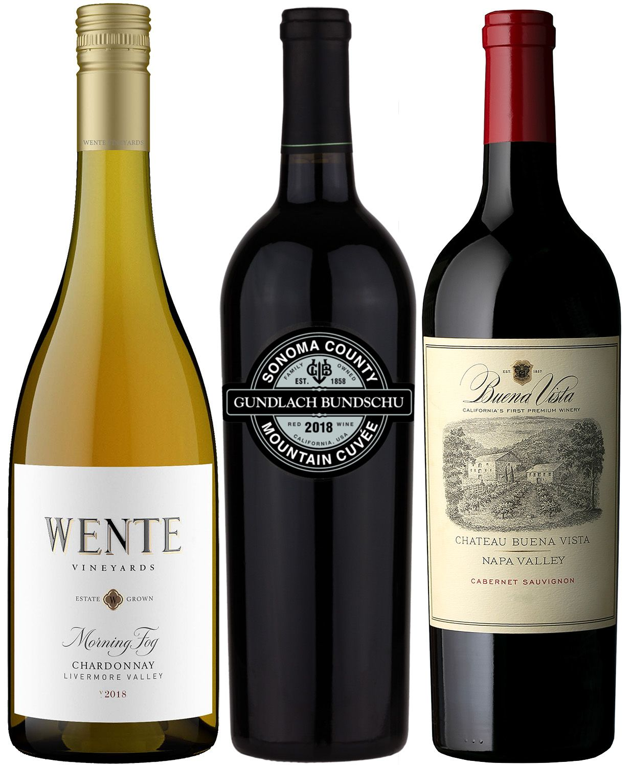 wine.com Pioneers of California Wine Tasting Trio  Gift Product Image
