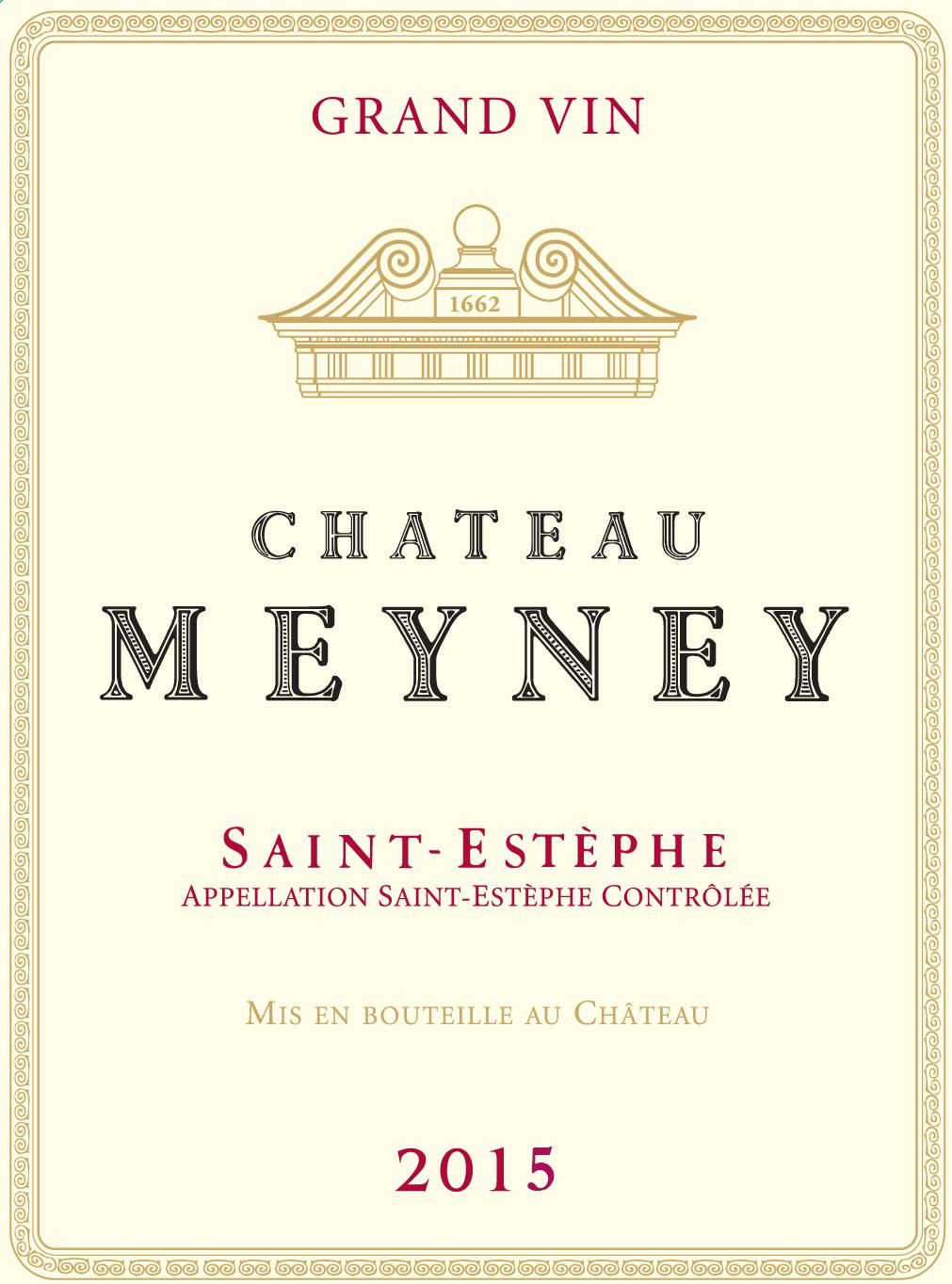 Chateau Meyney  2015 Front Label