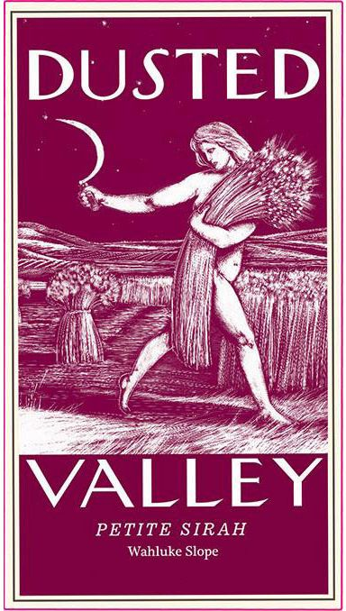 Dusted Valley Wahluke Slope Petite Sirah 2016  Front Label
