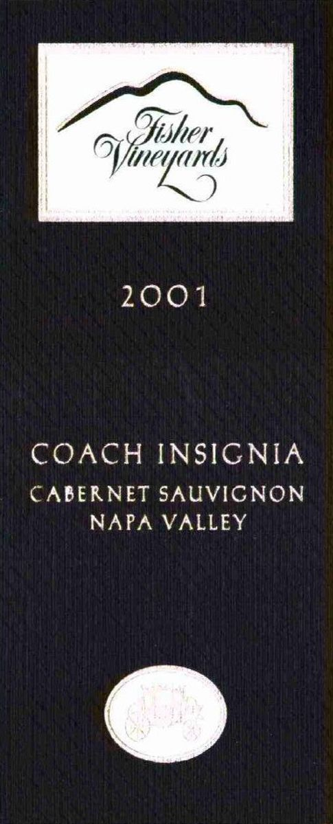 Fisher Vineyards Coach Insignia Cabernet Sauvignon (1.5 Liter Magnum) 2001  Front Label