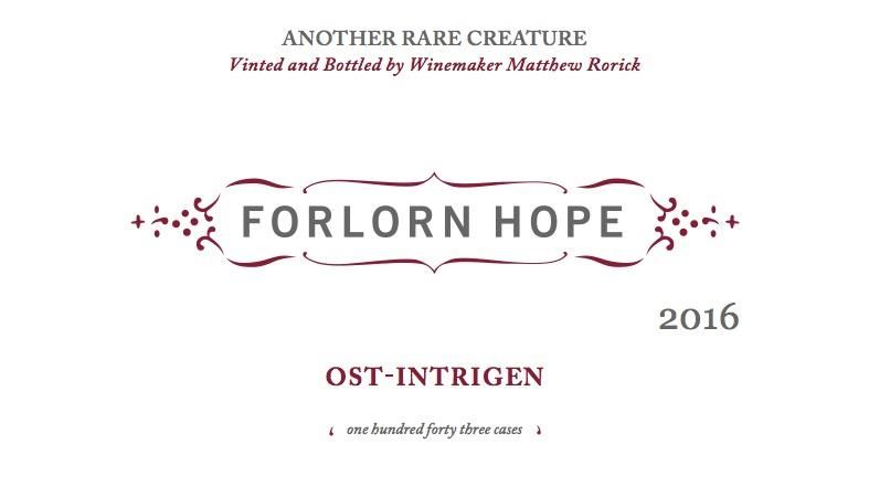 Forlorn Hope Ost-Intrigen St. Laurent 2016 Front Label