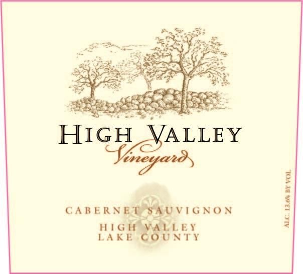 High Valley Vineyards Cabernet Sauvignon 2017  Front Label