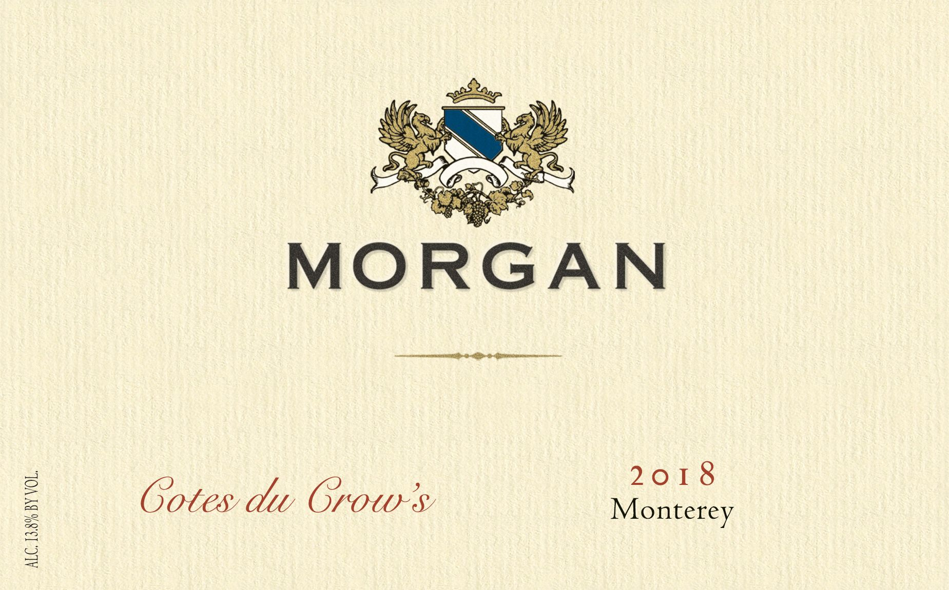 Morgan Cotes du Crow's 2018  Front Label