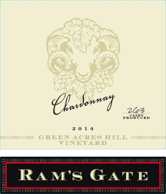 Ram's Gate Winery Green Acres Hill Vineyard Chardonnay 2014 Front Label