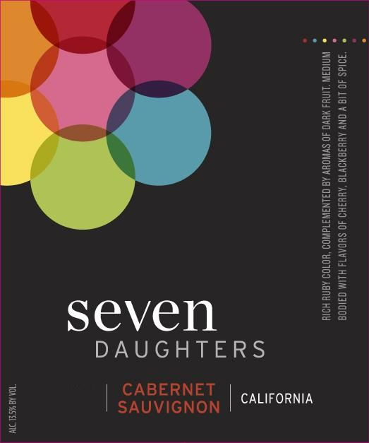 Seven Daughters Cabernet Sauvignon 2015  Front Label