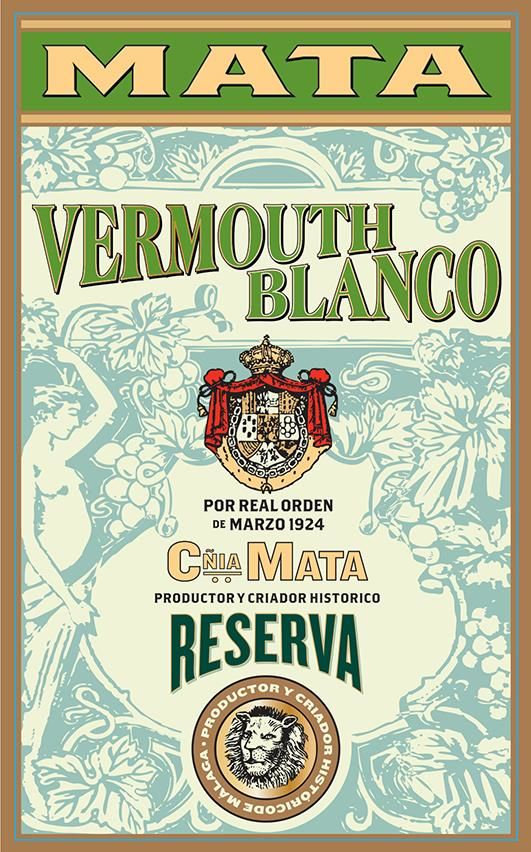 Mata Vermouth Blanco  Front Label