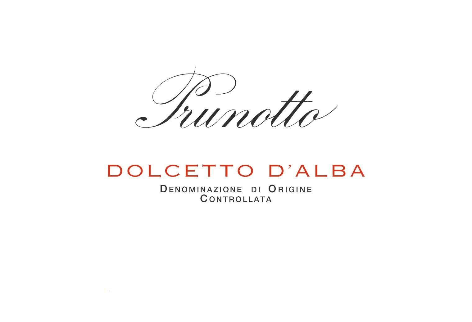 Prunotto Dolcetto d'Alba 2018  Front Label