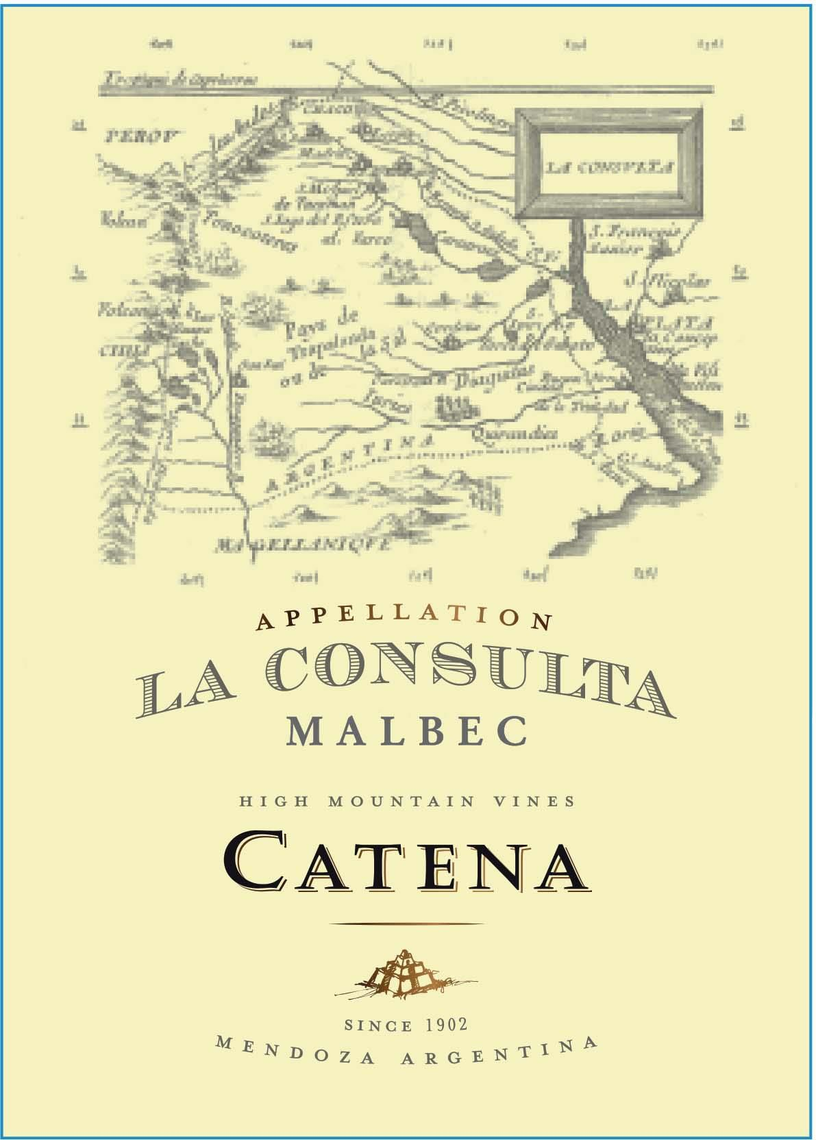 Catena Appellation La Consulta Malbec 2018  Front Label