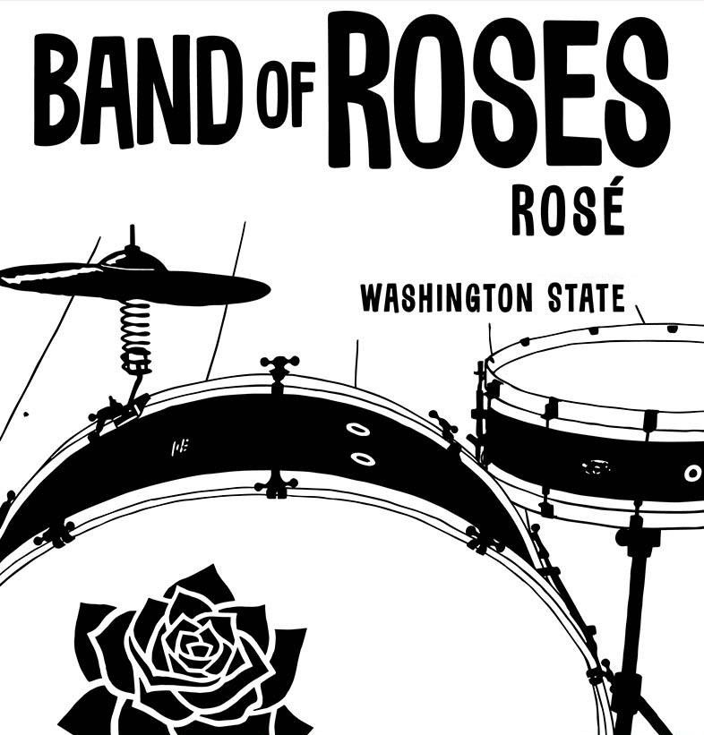 Charles Smith Wines Band of Roses Rose 2018 Front Label