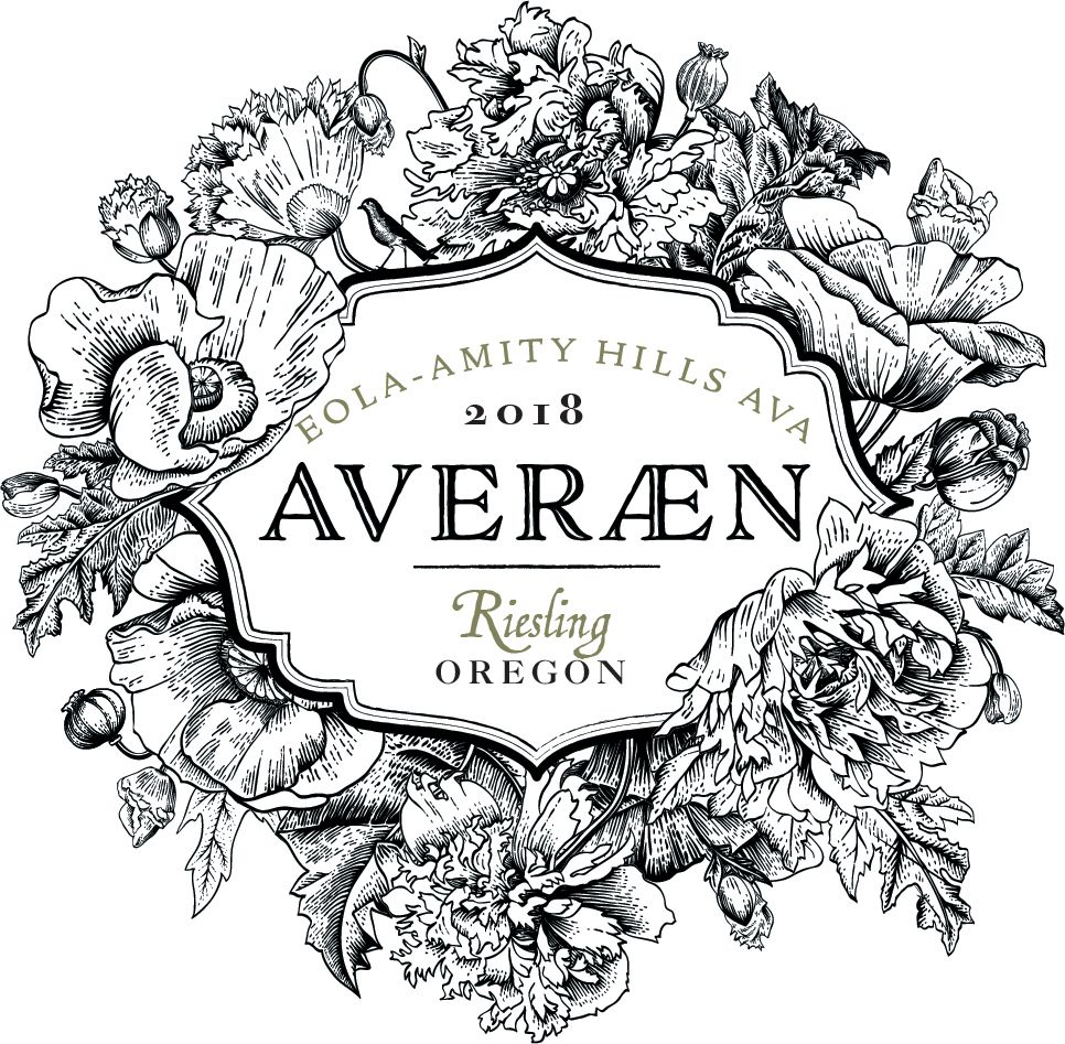 Averaen Eola-Amity Hills Riesling 2018  Front Label