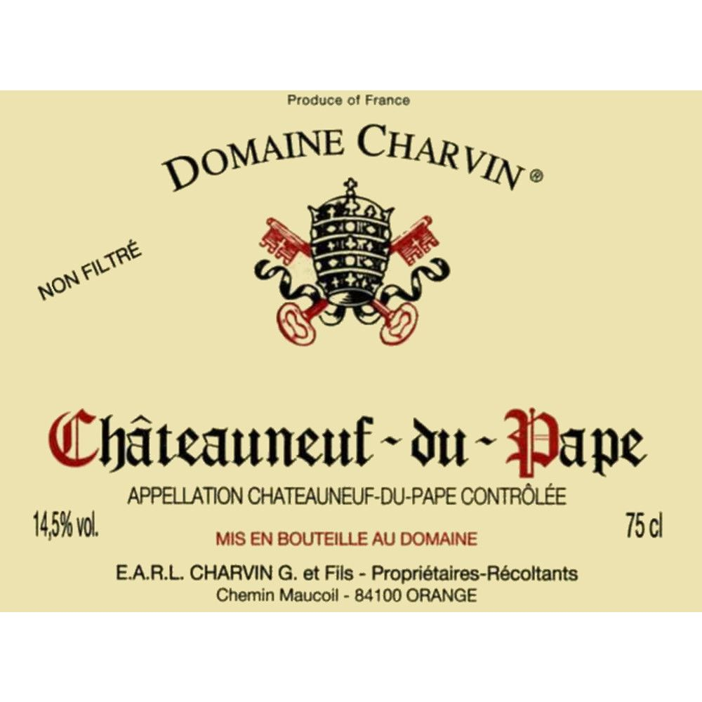 Domaine Charvin Chateauneuf-du-Pape (1.5 Liter Magnum) 2004  Front Label