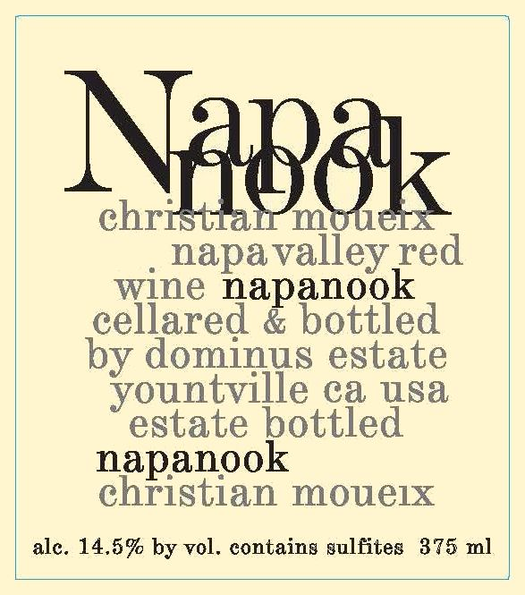 Dominus Napanook Vineyard 2017  Front Label