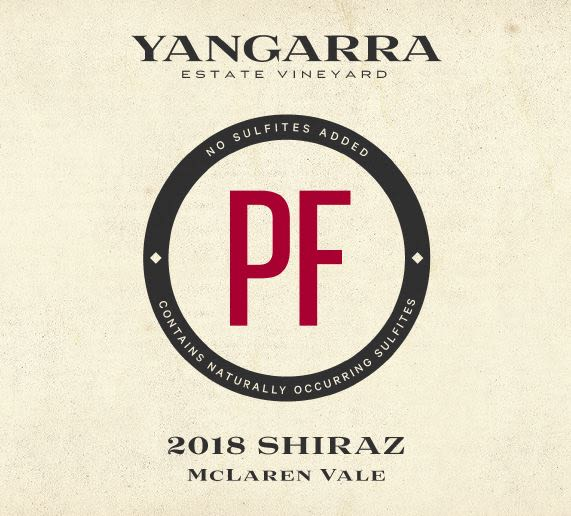 Yangarra Estate PF Shiraz 2018  Front Label