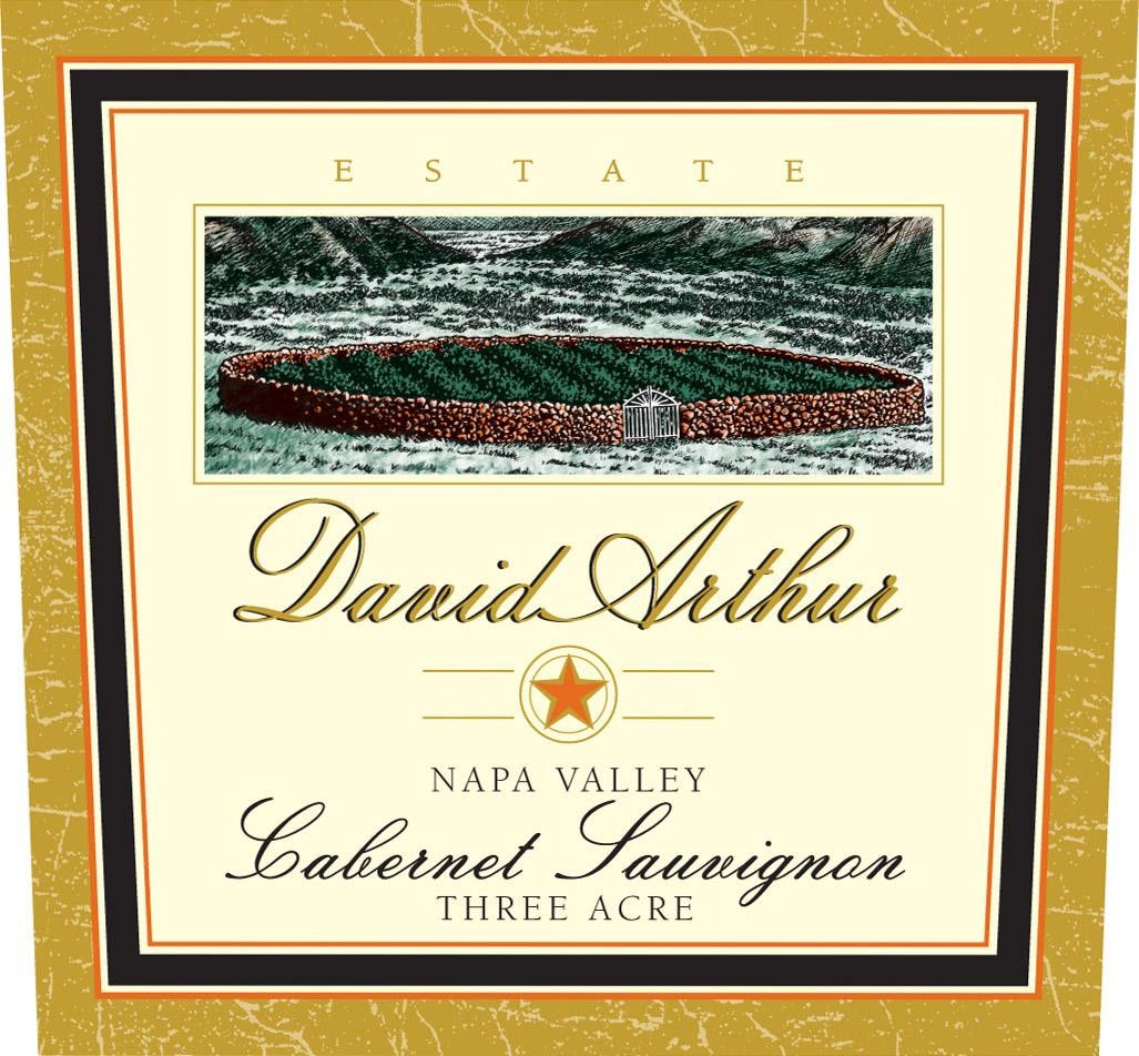 David Arthur Three Acre Cabernet Sauvignon 2016  Front Label