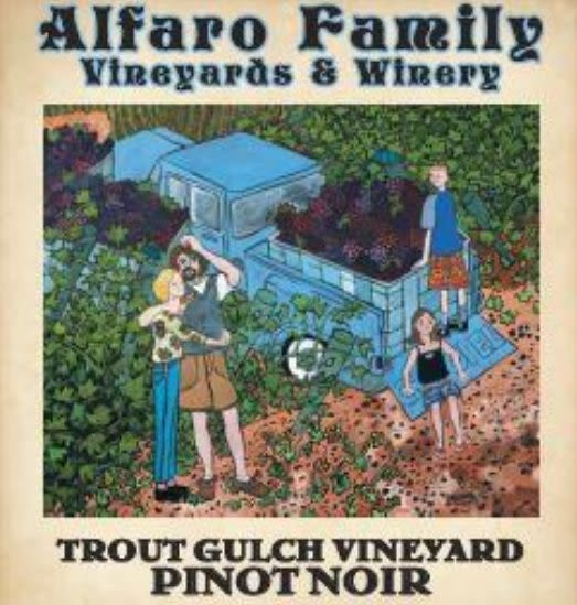 Alfaro Family Trout Gulch Vineyard Pinot Noir 2017  Front Label