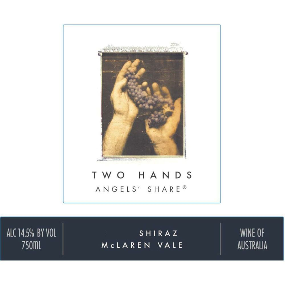 Two Hands Angels' Share Shiraz 2017 Front Label