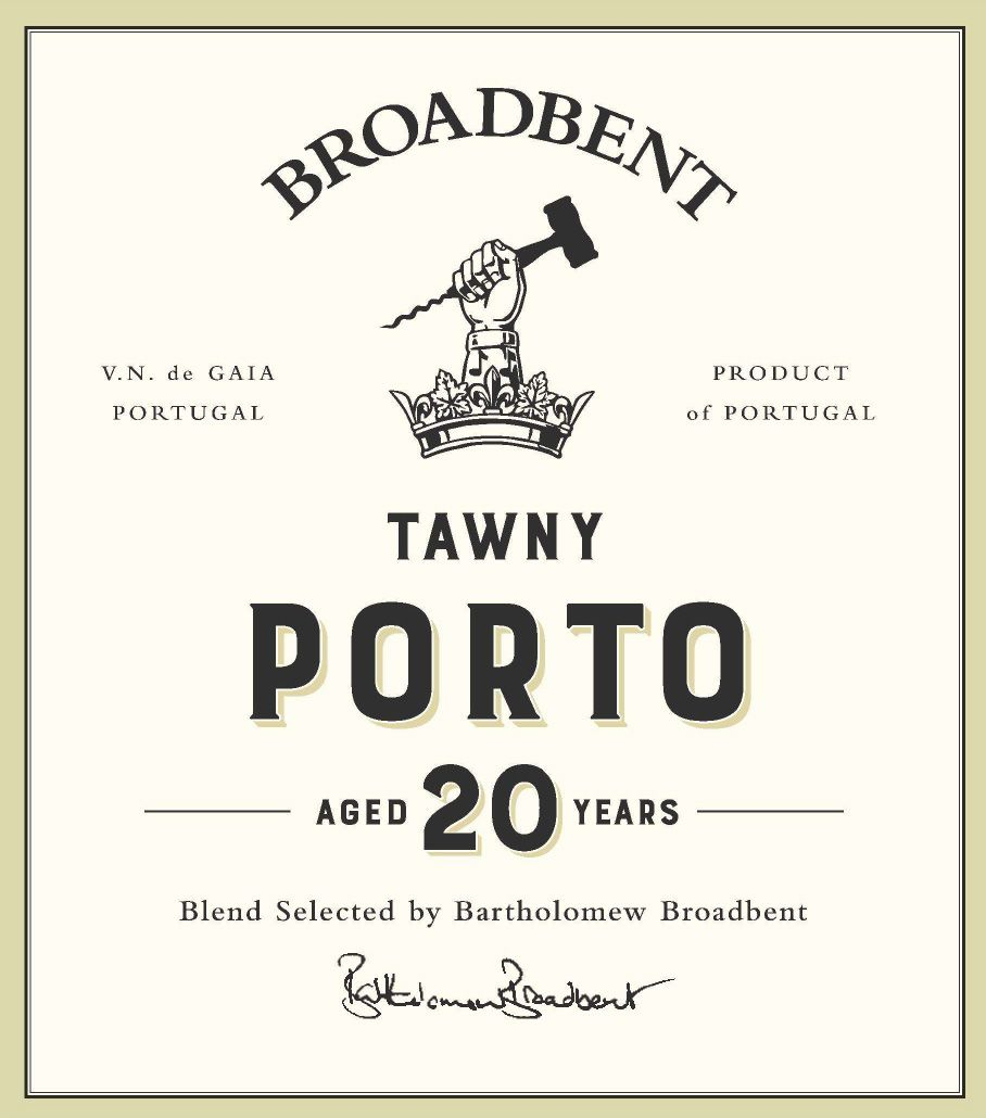 Broadbent 20 Year Tawny Port  Front Label