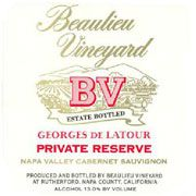 Beaulieu Vineyard Georges de Latour Private Reserve 1985  Front Label