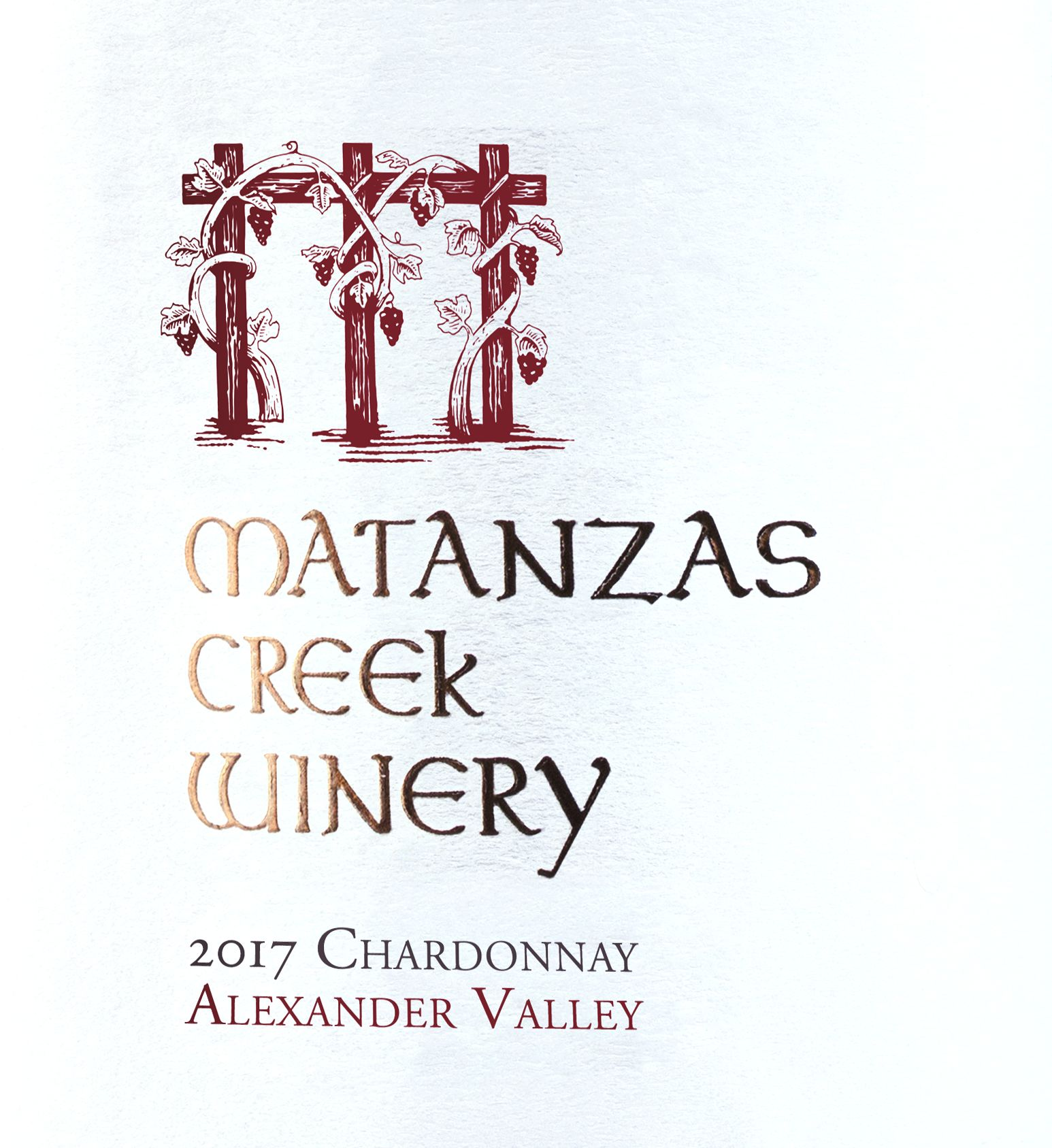 Matanzas Creek Alexander Valley Chardonnay 2017  Front Label