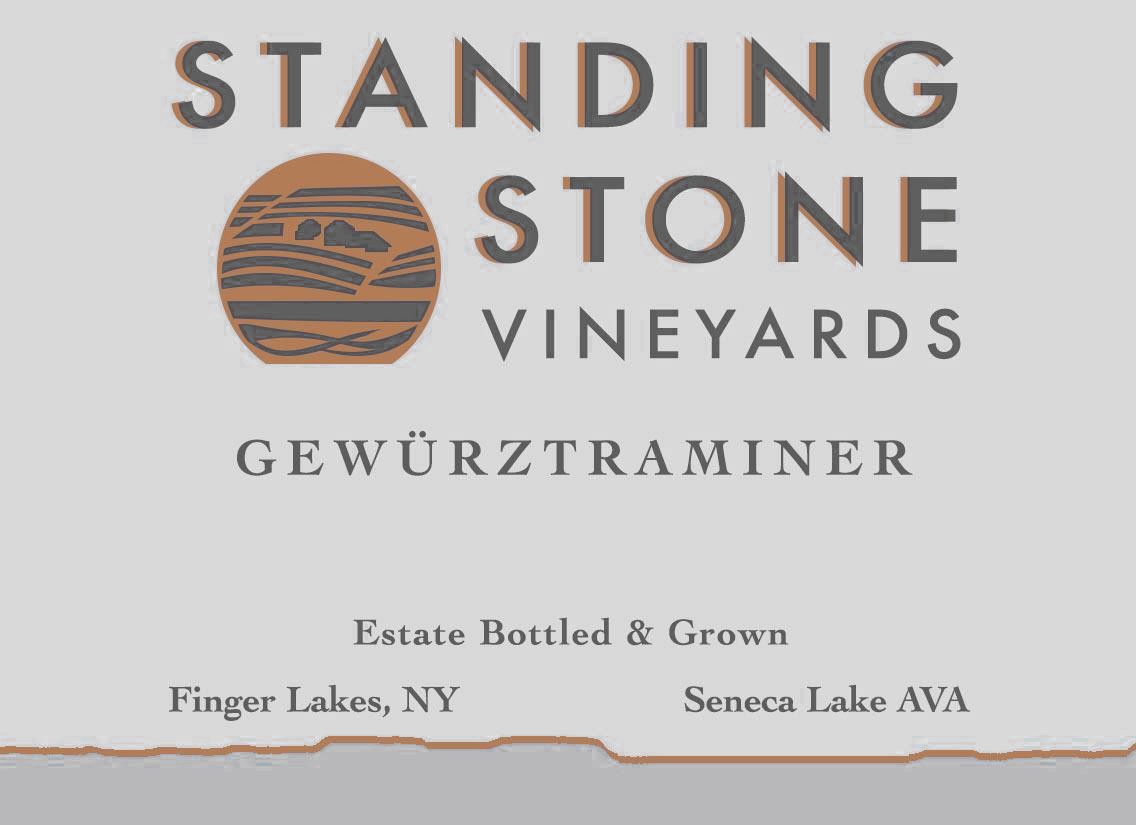 Standing Stone Vineyards Gewurztraminer 2019 Front Label
