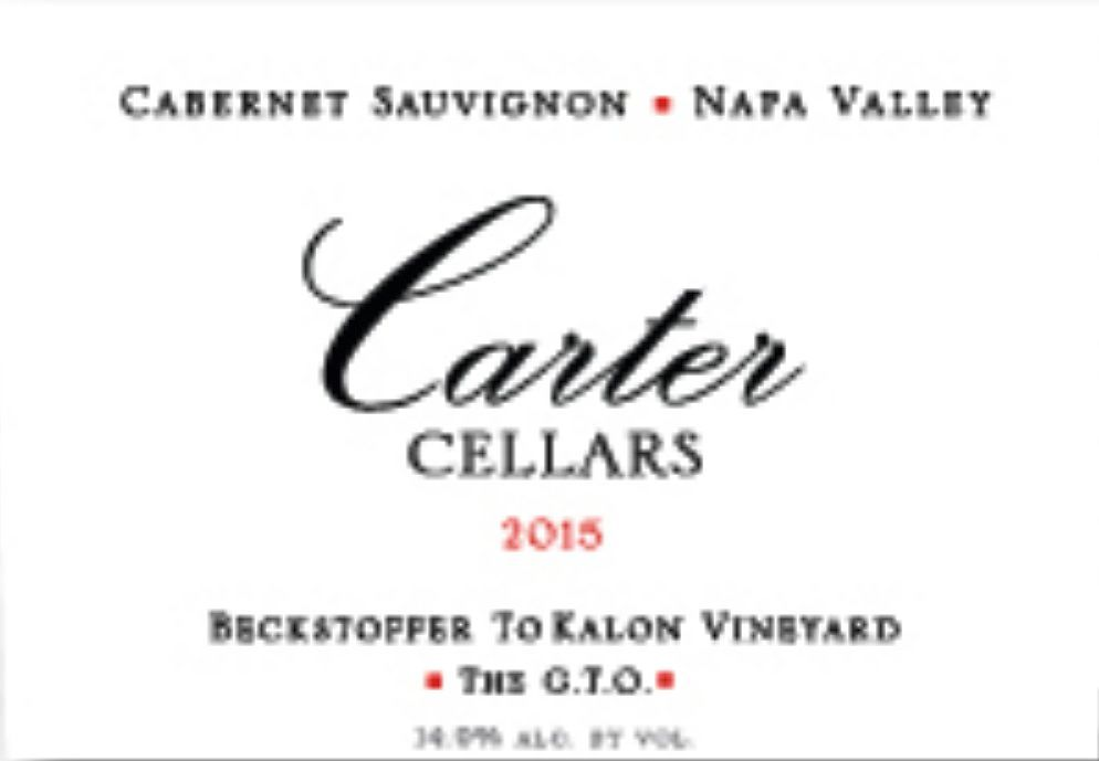 Carter Cellars Beckstoffer To Kalon Vineyard The G.T.O. (1.5 Liter Magnum) 2015  Front Label