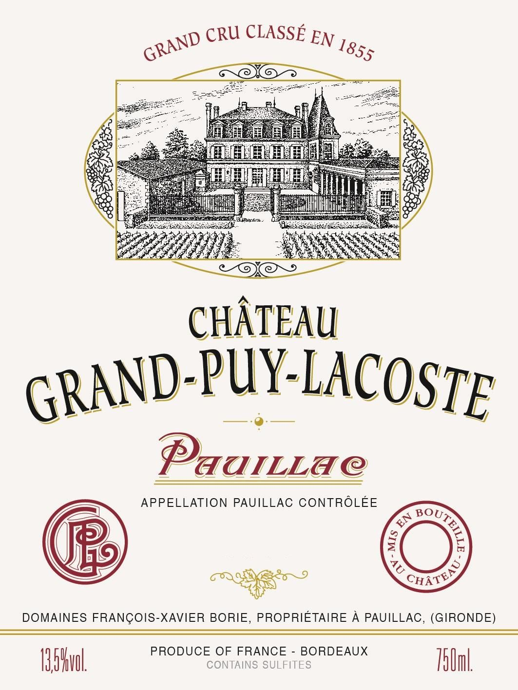 Chateau Grand-Puy-Lacoste (1.5 Liter Futures Pre-Sale) 2018  Front Label