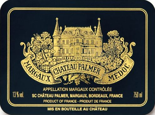 Chateau Palmer  2001 Front Label