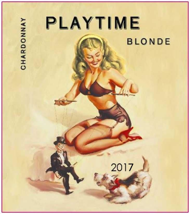 Playtime Blonde Chardonnay 2017 Front Label